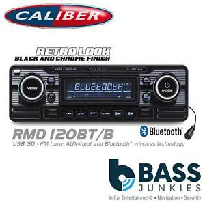 Details about Retro Style BLUETOOTH DECKLESS USB SD AUX Car Stereo Radio  Player BLACK RMD120BT
