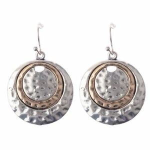 Simple-Big-Retro-Large-Inlay-National-Style-Dangle-Earrings-Round-Bronze-Women