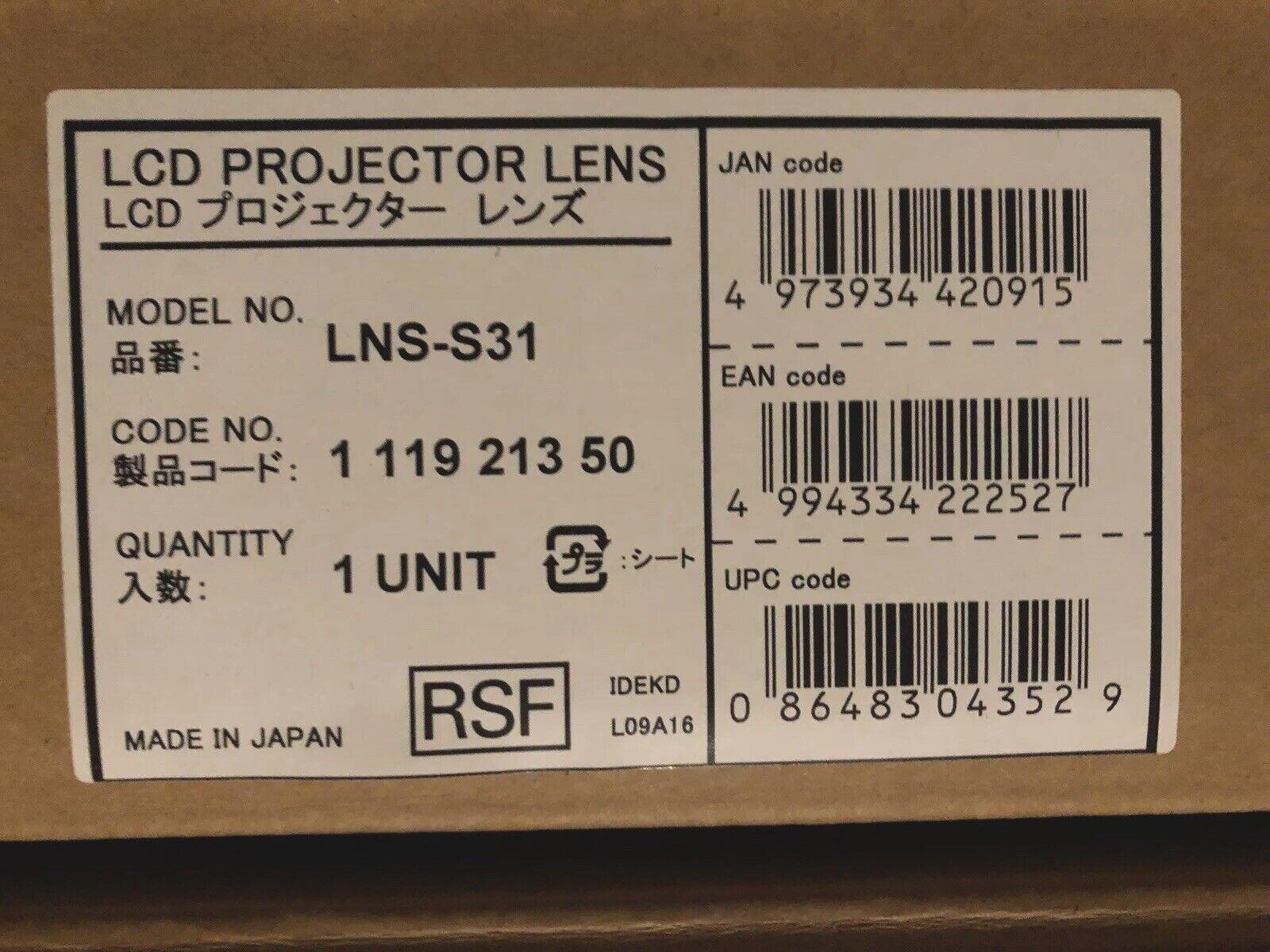 Brand-new Sanyo LNS-S31 Short Zoom Lens In Box BNIB