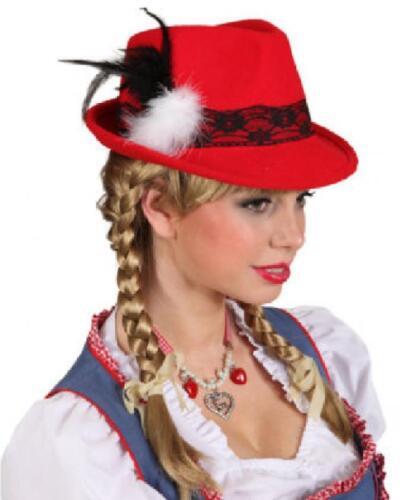 Seppl Seppel Dirndl Trachten Tiroler Hut Wiesen Kleid Kostüm Bayern Oktoberfest