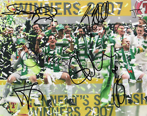 CELTIC-Multi-Signed-10x8-Photograph-by-7-Players-Manager-FOOTBALL