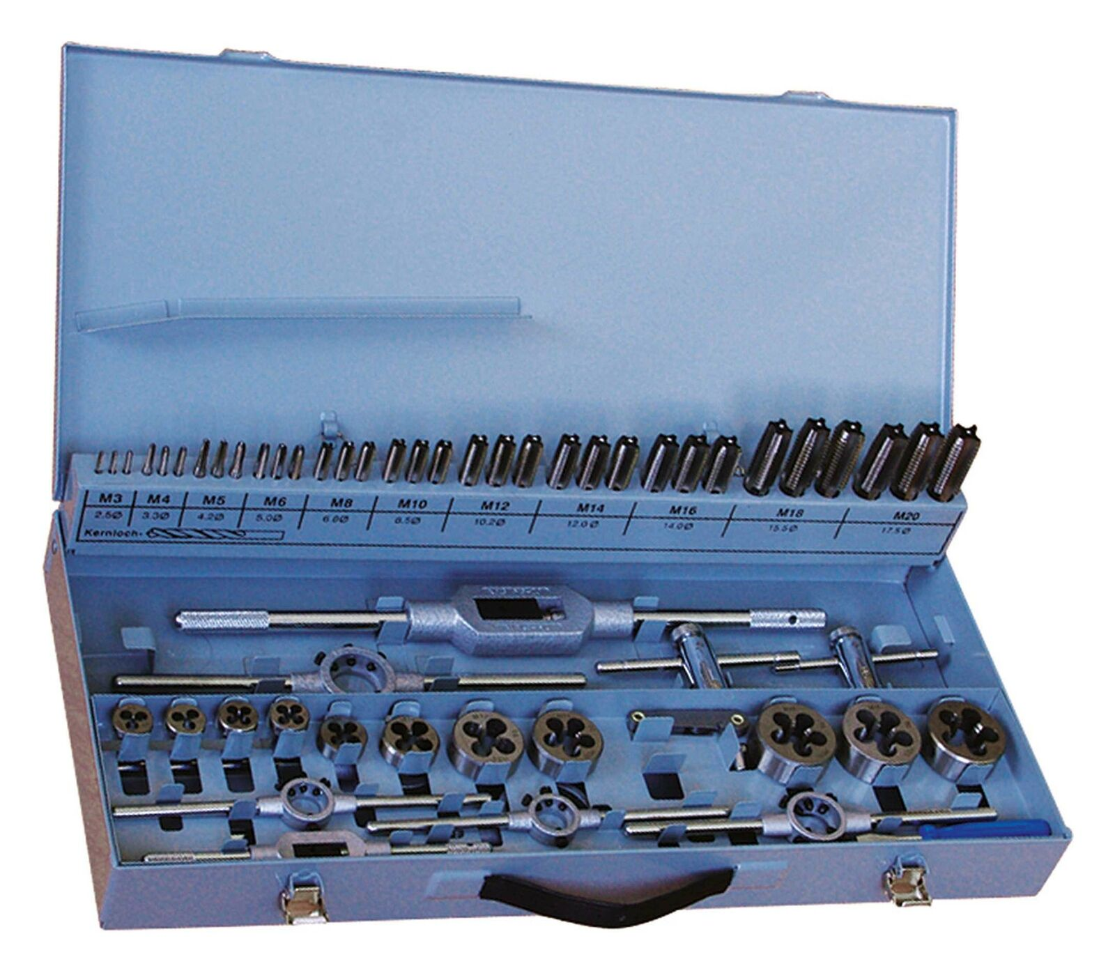 Fortis Hand-Gewindebohrer D352 Metall HSS M3-12 Sortiment | Die Farbe ist sehr auffällig  | Sehr gelobt und vom Publikum der Verbraucher geschätzt  | Exquisite Handwerkskunst  | Abrechnungspreis