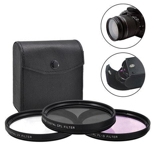 77 Mm 3 Pièces Hd Lentille Filtre Kit Pour Canon Nikon Sigma Sony Tamron Fujifilm Lens