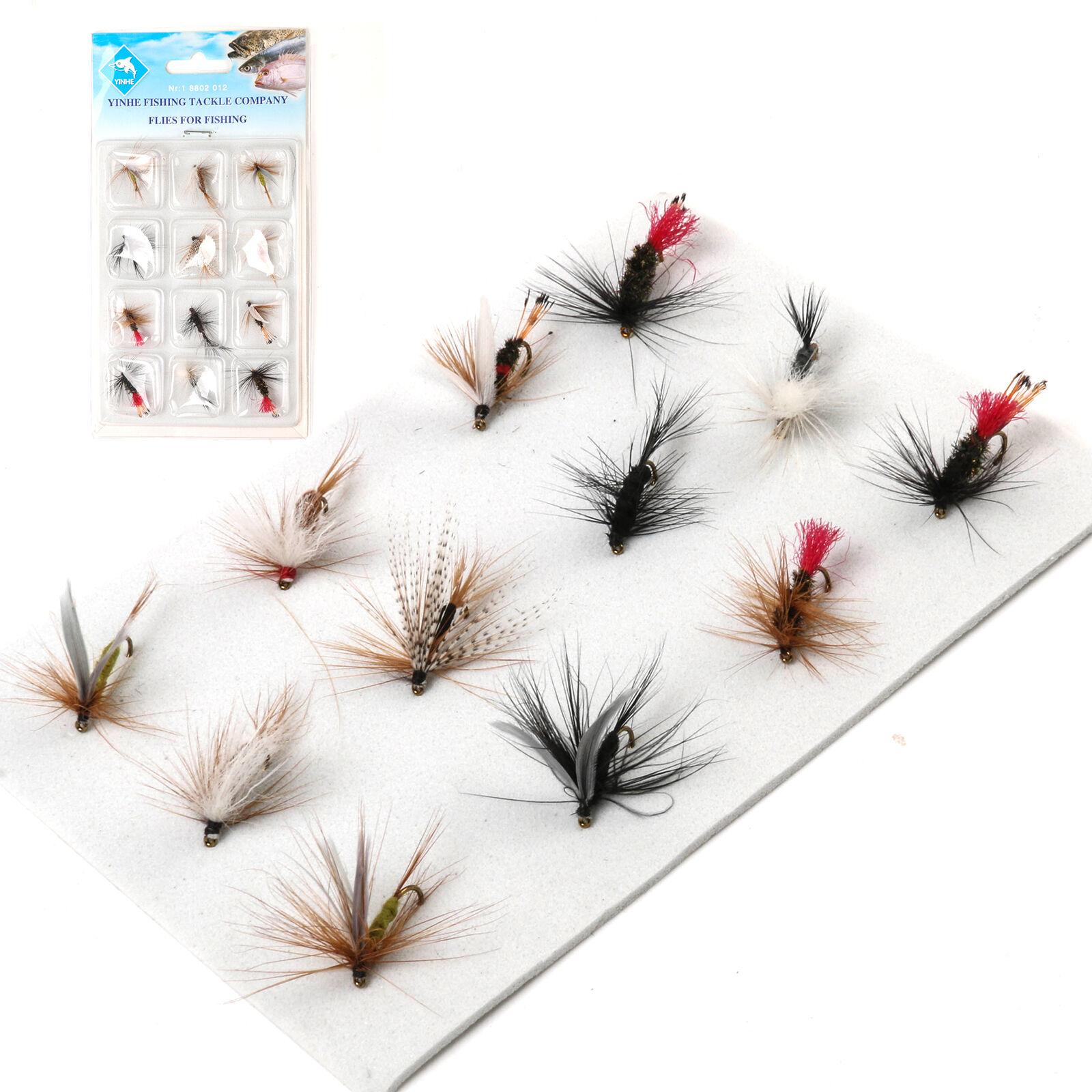 12 pièces mouches mouillées, sélection de mouches, haute qualité