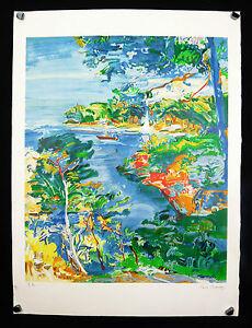 Paul-Braudey-1930-Kunstblatt-Boot-Navigant-in-einer-Massaker-marine