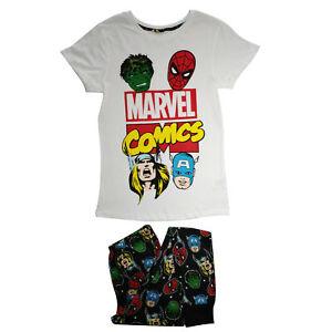 Official Women/'s White Marvel Comics Pyjamas