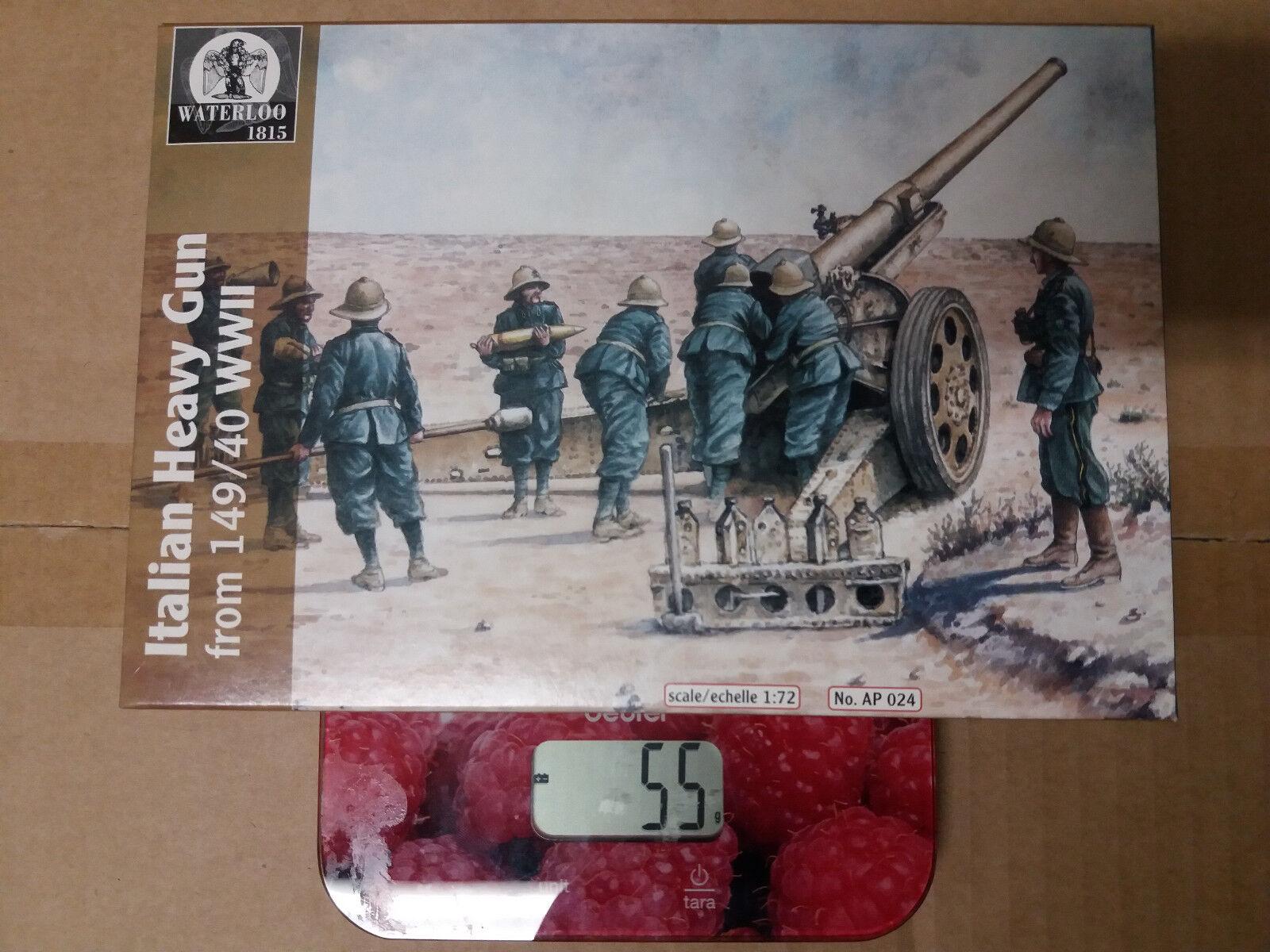 WATERLOO AP024 - - Italian WWII Heavy Gun 149/40 - - 1/72 675a65