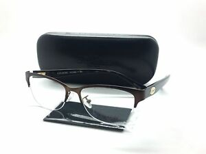 e8af29d5d55 Coach Semi Rimless Eyeglasses HC 5066 9155 Satin Brown Tortoise 51 ...