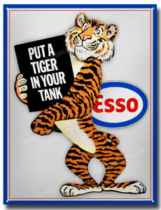 ESSO PUT A TIGER IN YOUR TANK METAL SIGN.ESSO GARAGE METAL ...
