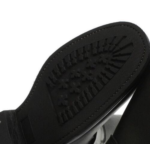 liscia occidentali liscia Biker pelle nera suola Mocassini con nera RdHqIIw