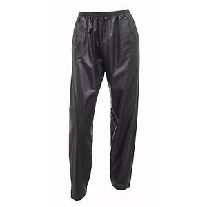 Regatta-Stormbreak-Hombre-Mujer-Impermeable-Transpirable-Pantalones-Negro
