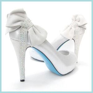 Bella Belle Something Blue Sole Bridal Wedding Ivory