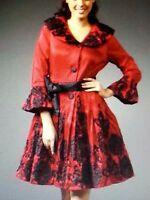 Jerry T Jacket L Large Boutique Black And Red Party Coat Jacket