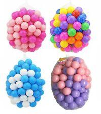 KIDS PLASTIC SOFT PLAY BALLS CHILDREN BALL PITS PEN POOL BATH PLAY ROOM BALLS
