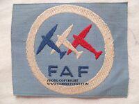 Patch Armée de l'Air WWII FAF ESCADRILLE TRICOLORE ou FRENCH AIR FORCE 1945