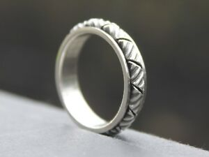 Ladies-Men-039-s-Solid-925-Sterling-silver-Spinner-ring-band-5mm-Gift-for-him-or-her