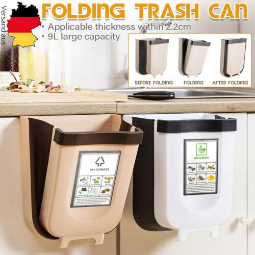 Küchen Wandmontage Falten Mülleimer Müll-Abfalleimer Abfallsammler Faltbar A++