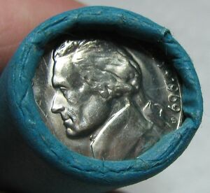 1969-S-OBW-ORIGINAL-BANK-WRAPPED-ROLL-BU-UNCIRCULATED-JEFFERSON-NICKELS
