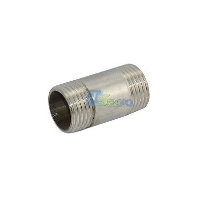 """New 1/2"""" Male x 1/2"""" Male 304 Stainless Steel threaded Pipe Fitting SS304 NPT"""