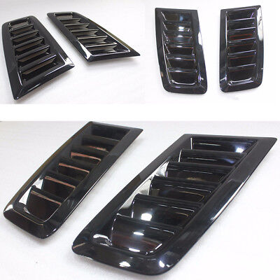 Bonnet Vent Hood Vent FOCUS RS MK2 Style ABS Plastic Universal Ford Glossy Black