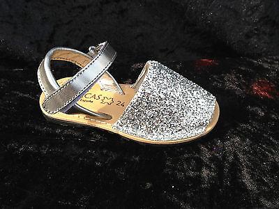 Avarcas- sandals- girls -leather -glitter finish- uk infant 4 to kids size 1