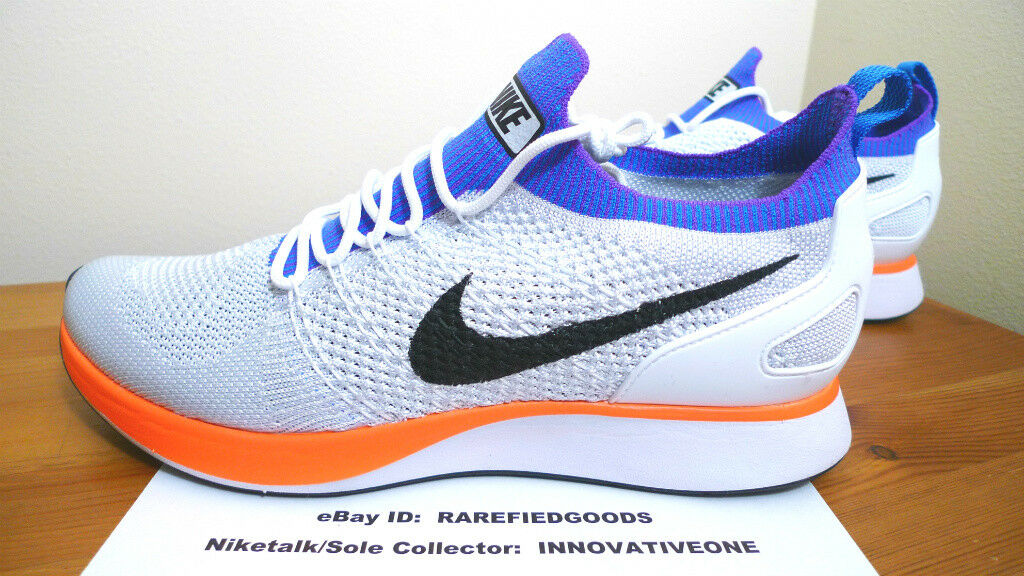 NIKE W AIR ZOOM ORANGE MARIAH RACER Weiß CRIMSON ORANGE ZOOM Blau SZ 12 Damenschuhe OR 10.5  Herren 6a4b69