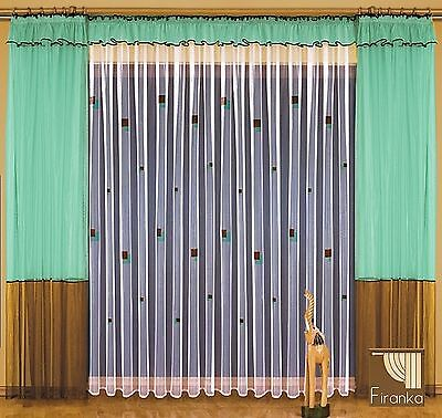 SALE!!! Curtains Set lucyla 600/250 Batista Curtain Green Brown