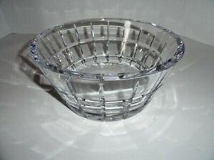 "Faberge Metropolitan Clear Crystal Bowl 9"" diameter"