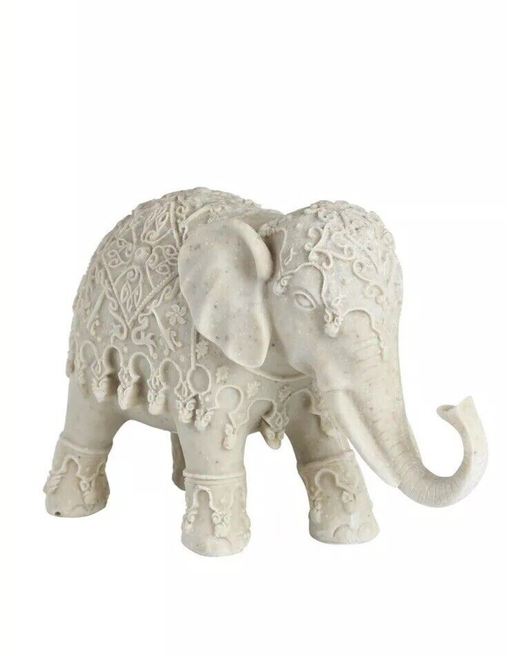 Natural Elephant Decoration Ornament Figurine Statue Rustic Home Furniture GIFT