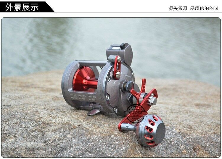 Saltwater Trolling Baitcasting Big Game Fishing Reel Line counting STEL2040   considerate service