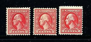 CF-US-526-527-528-Mint-OG-H-1920-2c-Types-IV-V-Va-Perf-11-Offset-Press