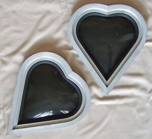 Pair Vintage 70s Custom Van Heart Shaped Porthole Windows