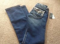 Miss Me Jeans Size 24 Signature Boot Cut Paisley Pockets Jy9041b Macys