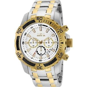 Invicta Men's 51mm Pro Diver Chronograph White Dial Stainless Steel Watch 24859