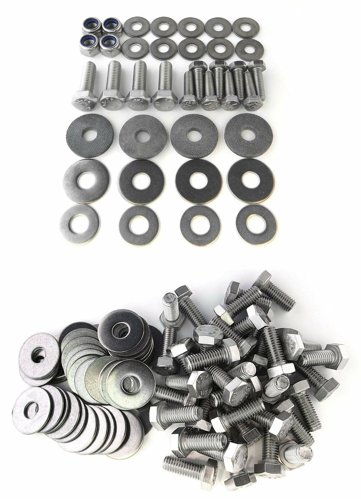 Volkswagen Beetle Wing Fitting Fasteners Kit Bolts /& Washers For All 4 Wings