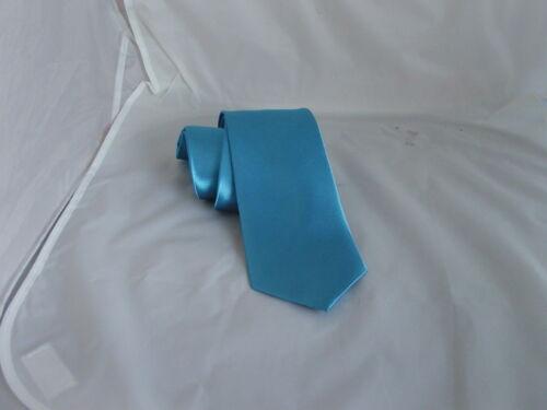 """Homme bleu turquoise polyester classique cravate /> 3.3/"""" = 8cm ou skinny cravate /> 2.5/"""" = 6cm largeur"""