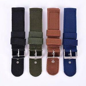 18-24mm Military Army Nylon Watchband Woven Nylon Watch Strap Correa de reloj