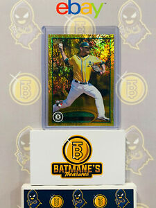 2012-Topps-Gold-Ryan-Cook-US260-Refractor-RC-Rookie-Baseball-Card-NM-M-MINT