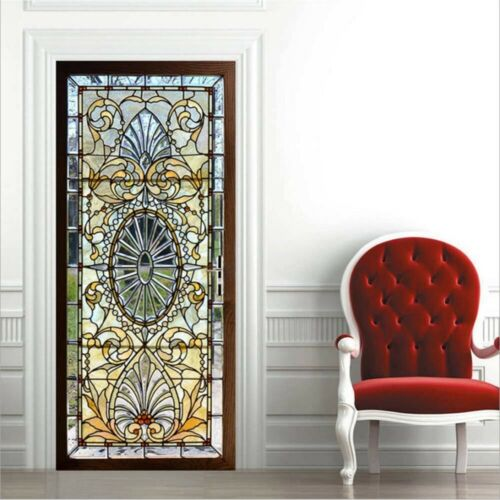 Self Adhesive Frosted Stained Glass Window Door 3D Sticker Film Privacy Decor