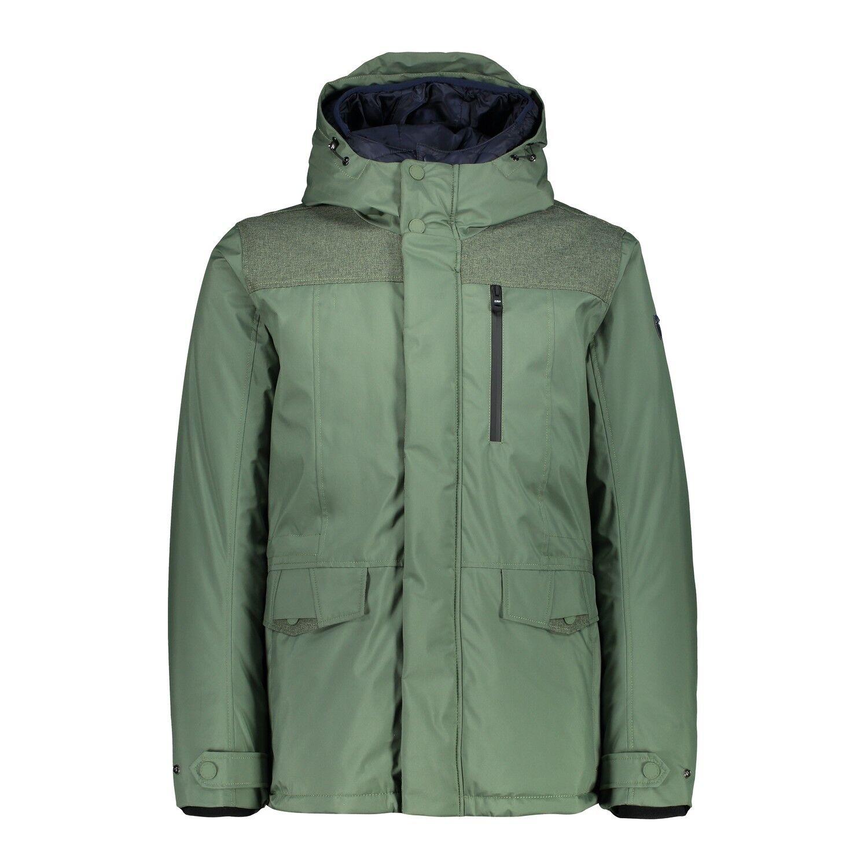 CMP hidrófuga chaqueta Man  mid Jacket ZIP Hood verde resistente al agua  Envío 100% gratuito