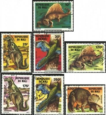 Used 1984 Prehistoric Animals Harmonious Colors Sincere Mali 1025-1031 complete Issue