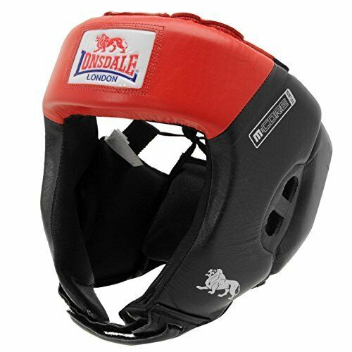 Lonsdale Boxing Martial Arts Combat Sparring Pro Open Face Headgear MEDIUM  R343