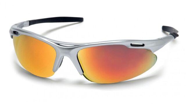 Pyramex Avante Safety Glasses : Silver Frame Ice Orange Lens