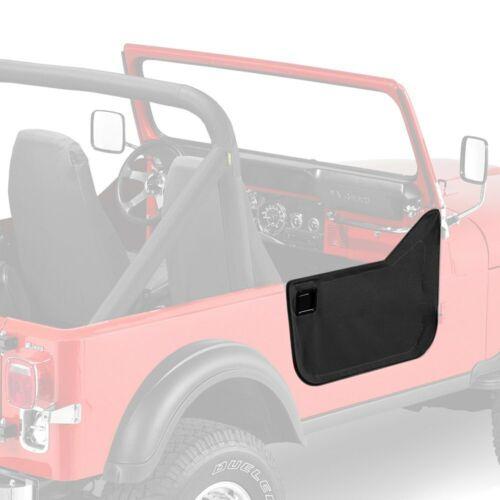For Jeep CJ7 1976-1986 Bestop 53028-15 Black Denim Fabric Lower Half-Door Set