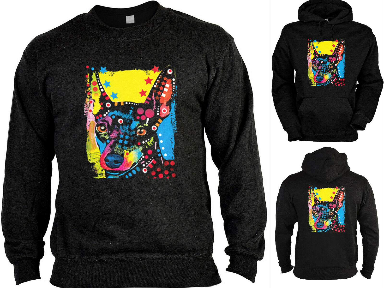 Zwergpinscher Sweater - Kapuzensweater - Zip Hoodie Hunderassen Hunde Motiv