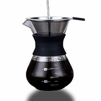 Pour Over Coffee Maker Set HEIHOX 14 ozPour Over Coffee Dripper with Paperle