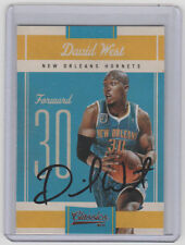DAVID WEST Hornets SIGNED 2010-11 Panini Classics #10 Autograph ON CARD AUTO