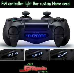 Ps4 controller light bar decal custom personalised vinyl stickers image is loading ps4 controller light bar decal custom personalised vinyl aloadofball Image collections