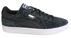 Ante Mujer Con Cuero Negro Zapatillas Cordones Elemental 361112 Zapatos De Puma STdHWqH