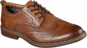 Skechers Bregman Modeso Lacet Dentelle Chaussures Homme en Cognac